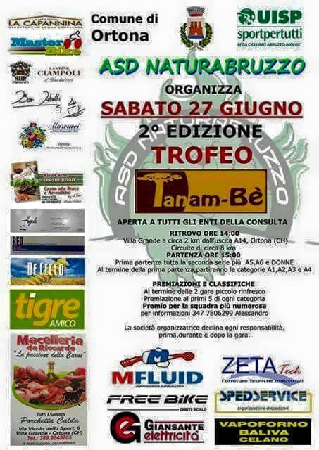 Locandina 2a edizione Trofeo di Ciclismo a Villa Grande di Ortona