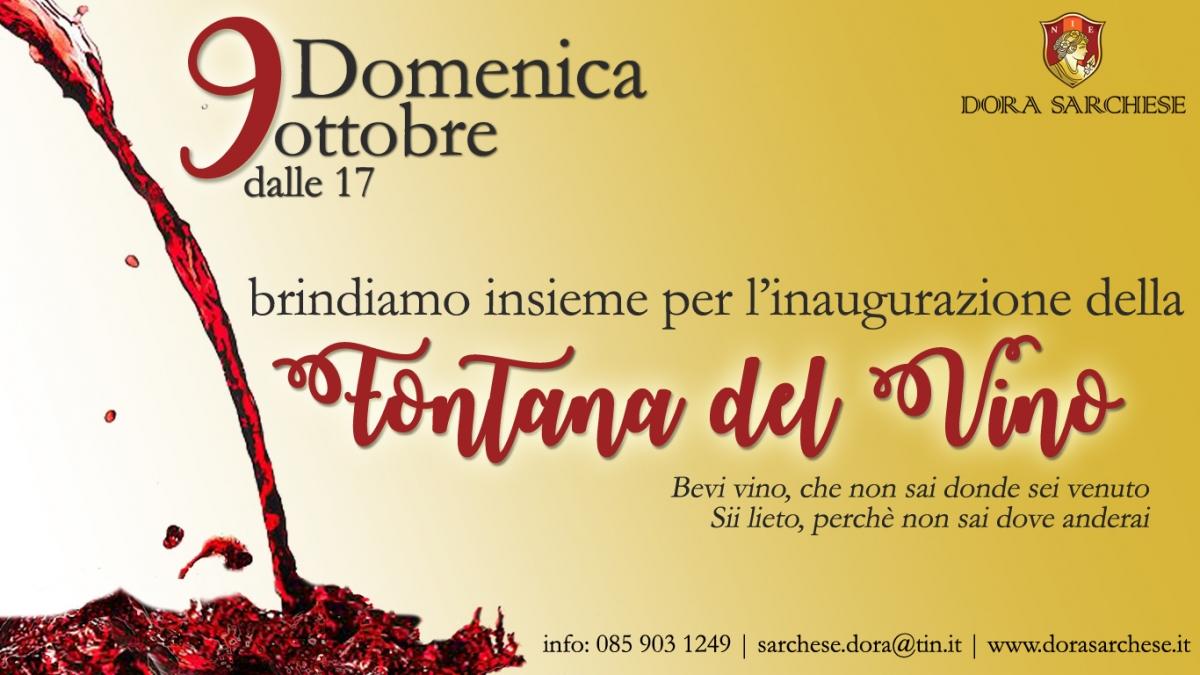 Fontana del vino in Abruzzo: il 9 ottobre l'inaugurazione